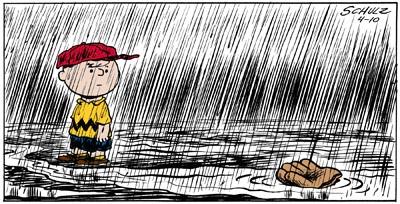 Charli Brown Baseball Rain
